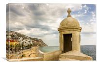 Sesimbra - portuguese Atlantic coast, Canvas Print