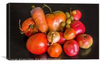 Village vegetables, Canvas Print