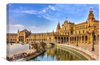 Spanish Square in Sevilla, Spain, Canvas Print