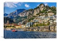 view of beautiful Amalfi, Canvas Print