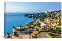 Views of the Neaples Coast, Positano, Ravello, Maiori, Amalfi, Canvas Print