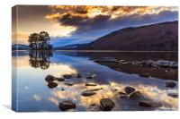 Loch Tay winter sunset, Canvas Print