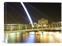 Millennium Bridge at Night, Canvas Print
