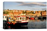 Sunset in Whitby, Canvas Print