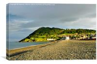 Sunset over Bray, Canvas Print