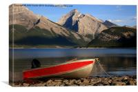 Evening at Spray Lakes, Canvas Print