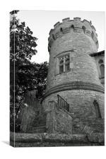 Castle turret, Canvas Print