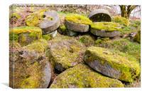 Abandoned Millstones - Peak District, Canvas Print