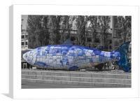 blue fish in belfast, Canvas Print