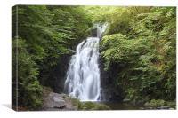 gleno waterfall, northern ireland, Canvas Print