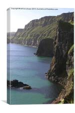 cliffs at carrick - a - rede, Canvas Print