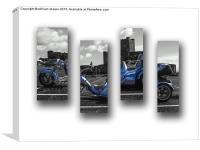 cutout quay viper bike, Canvas Print