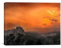Yosemite Sunset, Canvas Print