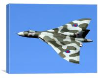 XH558 at the Windermere Airshow., Canvas Print