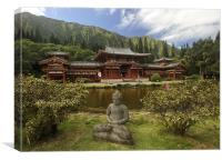 Byodo-In (平等院) Buddhist  Temple, Canvas Print