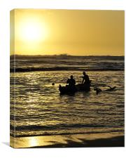 Polynesian Fishermen, Canvas Print
