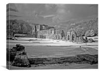 Furness Abbey - Infra-red, Canvas Print