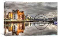 The River Tyne, Canvas Print