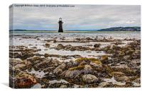 Whitford Lighthouse At Low Tide, Canvas Print