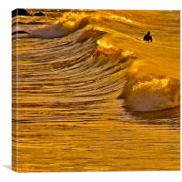 Langland Surfer, Canvas Print