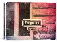 Konigsalle, Dusseldorf, Canvas Print