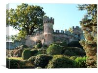 The Mound at Warwick Castle, Canvas Print