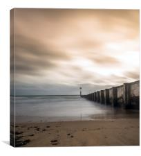 Bournemouth Beach Autumn Long Exposure, Canvas Print