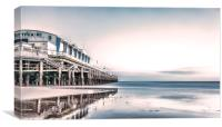 Bournemouth Pier Wintry Evening., Canvas Print