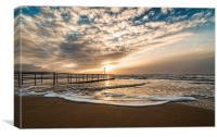 Bournemouth Beach Sunrise., Canvas Print