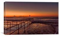Bournemouth Beach Sunrise, Canvas Print