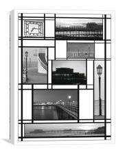 Mondrian Pier, Canvas Print