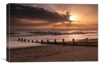 South Coast Sunset, Canvas Print