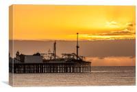 Brighton Dawn, Canvas Print
