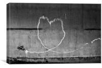 I <3 Graff, Canvas Print