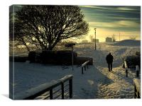 The Cold Walk Home, Canvas Print
