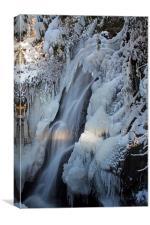 Frozen waterfall, Canvas Print