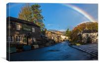 Rainbow over Malham, Canvas Print