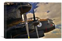 Canadian Avro Lancaster Bomber VeRA, Canvas Print