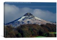 Roseberry Topping in Winter, Canvas Print