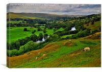 English Dales Landscape, Canvas Print