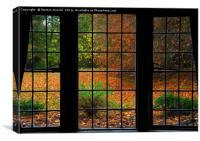 Autumn through the Window, Canvas Print