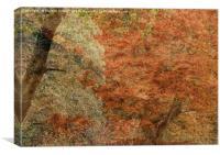 Textured Autumn Trees, Canvas Print