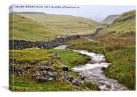 Yorkshire Dales Landscape Near Malham, Canvas Print