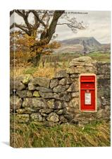 Country Lane Postbox, Canvas Print