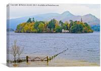Derwent Isle on Dewent Water, Lake District, Canvas Print