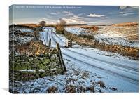 Winter Snow in Weardale, Canvas Print
