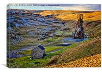 Disused Weardale Lead Mine Yorkshire, Canvas Print