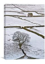 Weardale Winter Moorland Landscape, Canvas Print
