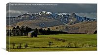 Snow capped Blencathra, Lake District, Canvas Print