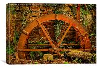 Old Mill Wheel, Canvas Print